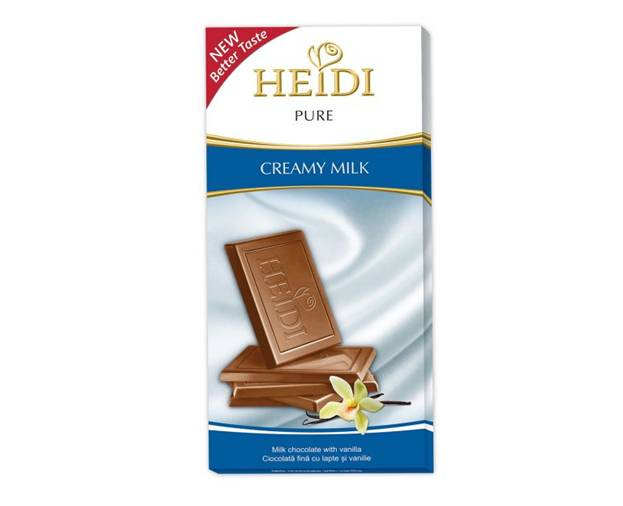 Tableta Chocolate Heidi Pure de Leche 80 Grs